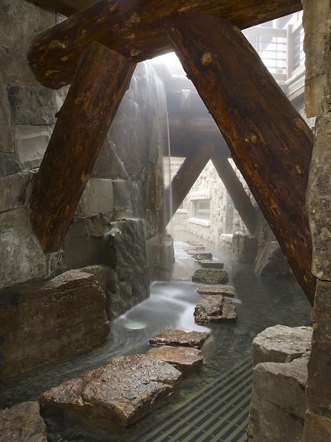 Waterfall Moat rustic-landscape