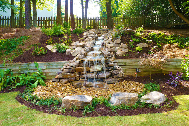 Waterfall Oasis By Outdoor Makeover Traditional
