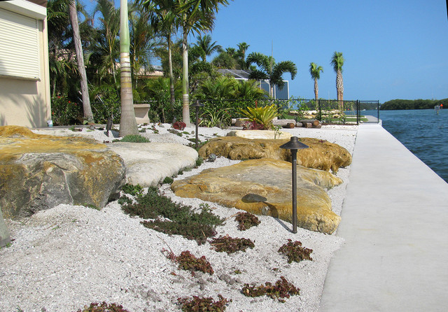 Waterfront landscaping tropical landscape tampa by for Waterfront landscape design