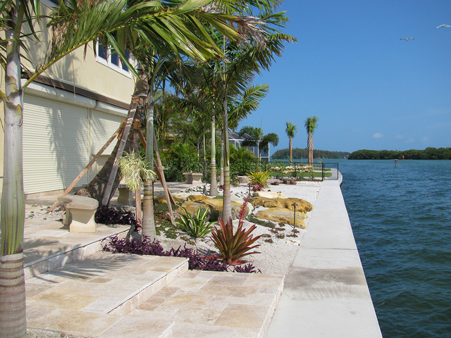 Waterfront Landscaping Tropical Landscape Tampa By