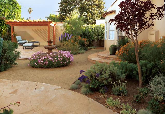 Waterwise mediterranean mediterranean landscape los for Garden design los angeles