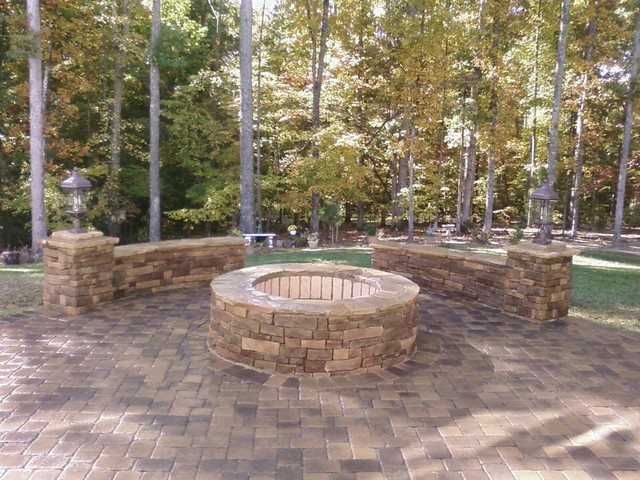 Waxhaw Fire Pit traditional landscape