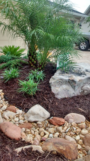 We will rock you tropical landscape for Landscaping rocks jacksonville