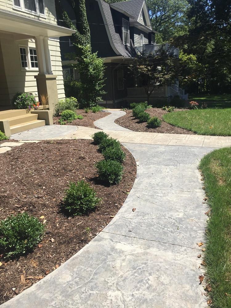 Webster Groves, Missouri Stamped Concrete Walkway