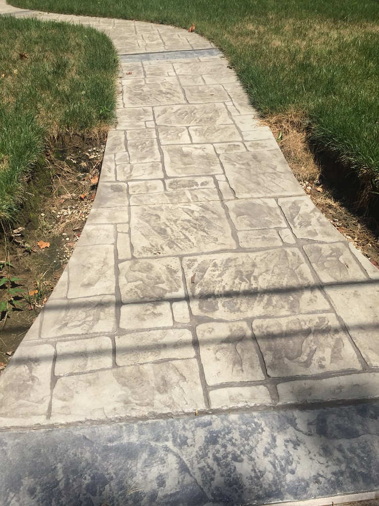 Webster Groves Stamped Concrete Walkway 2