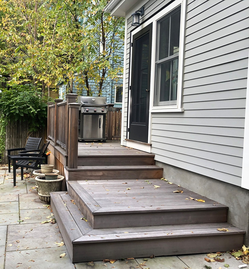 Welcoming steps to back landing