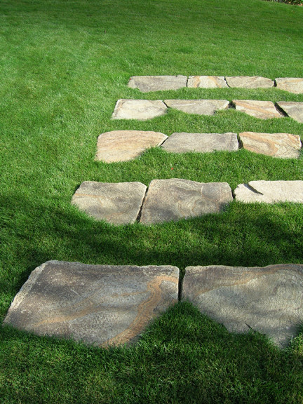West Hills Grass Steps Traditional Landscape