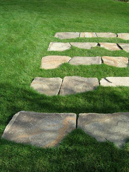 West Hills Grass Steps Traditional Landscape