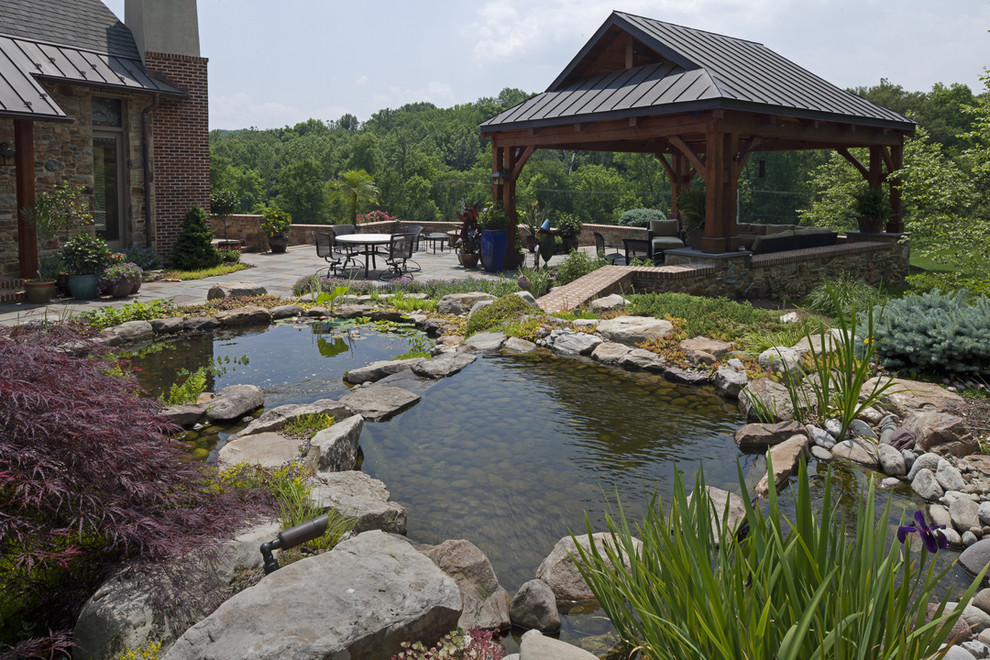 Design ideas for an eclectic water fountain landscape in Baltimore.