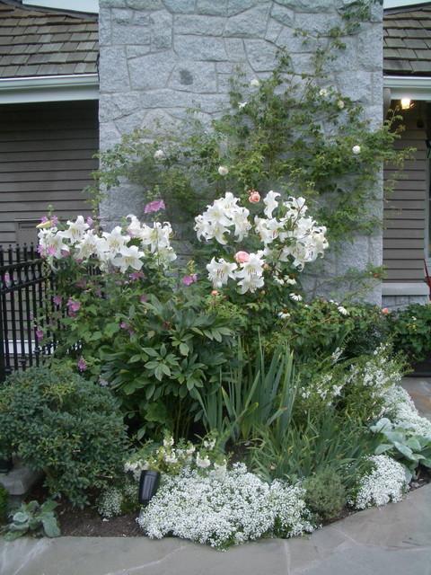 White Garden Traditional Landscape