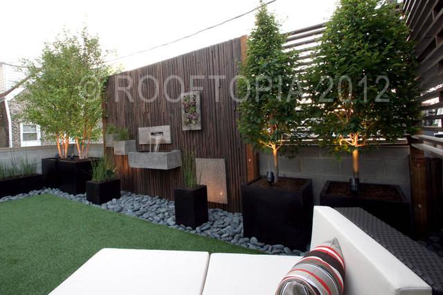 Wicker Park Garage Rooftop Modern Living Modern Landscape - Rooftop landscaping