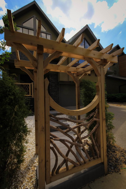 Willow Branch Arbor Feature And Porch, Willow Branch Outdoor Living