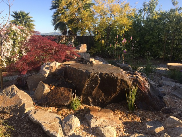 Willow Creek Custom Stone Water Feature traditional-landscape