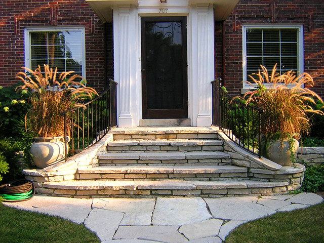 wilmette residence landscape traditional landscape - Front Steps Design Ideas