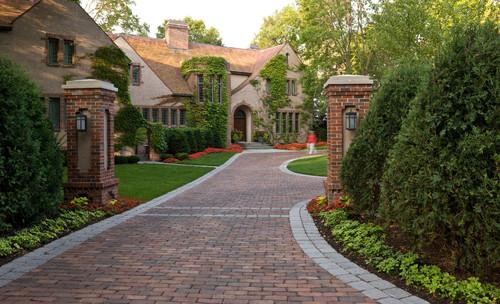 Brick driveway types of driveways