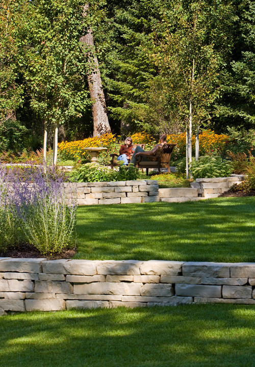 1000+ images about Tiered Retaining wall ideas on ... on Tiered Yard Ideas id=12080