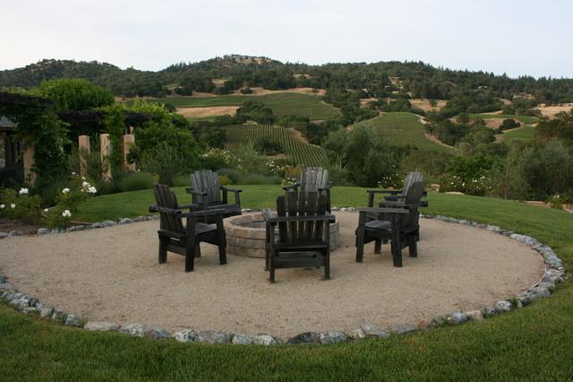 Wine Country Firepit - Mediterranean - Landscape - san francisco - by Vignette Design
