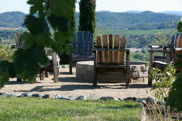 Wine Country Firepit mediterranean-landscape
