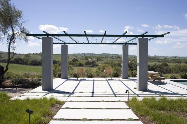 Wine Country Pool Deck & Trellis contemporary-landscape