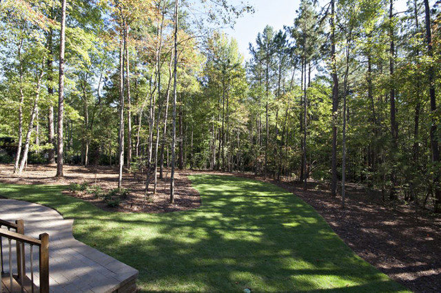 Wooded Backyard Traditional Garden