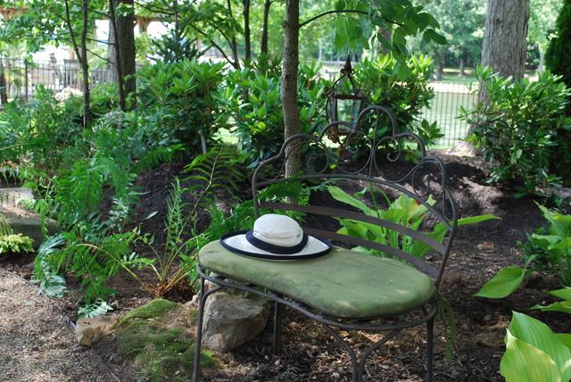 Woodland back garden reno on Lake Norman Traditional