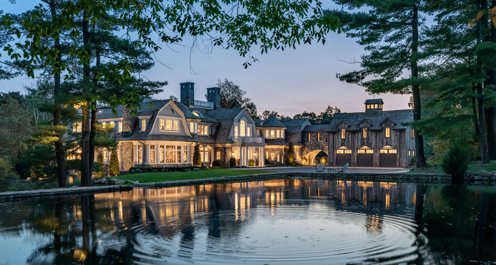 Woodland Gambrel in Greenwich,CT - Traditional - Landscape ...