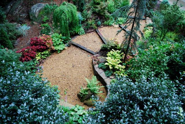 Woodland garden 1 eclectic-landscape