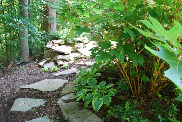 garden design with woodland garden landscape other metro by jay sifford garden with slow growing shrubs