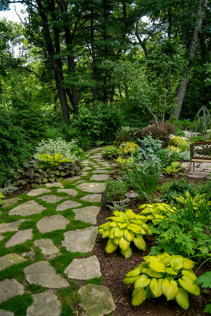 Woodland retreat traditional landscape boston by a for Outdoor garden designs