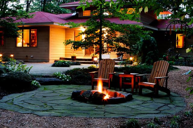 Woodland retreat craftsman landscape other metro for Craftsman landscape design ideas