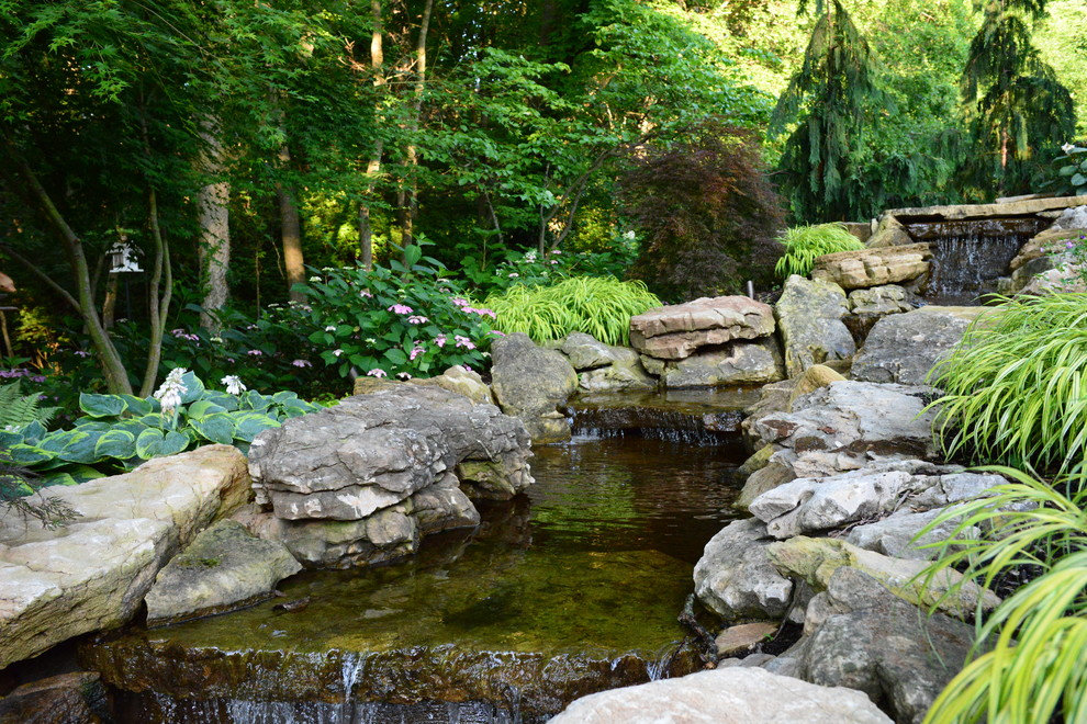 Woodland Waterfall St Louis Mo Traditional Landscape St Louis By Frisella Landscape Group