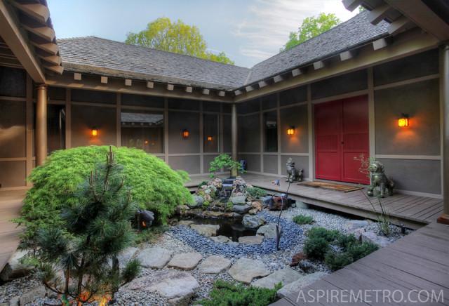 Woodland Zen Retreat asian-landscape