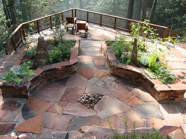 Woodside Mountain Home - Mediterranean - Landscape - San ... on Mountain Backyard Ideas id=65404