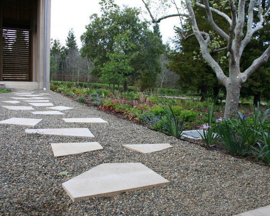 Pea Gravel Landscaping Ideas : Pea Gravel And Step Stones Home Design Photos
