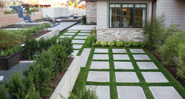 Wright Residence Contemporary Landscape Salt Lake City By Platinum Landscape Pools