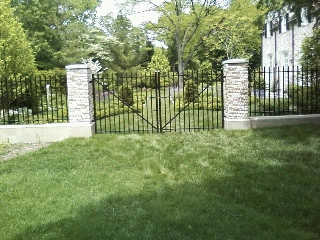 Wrought Iron Fence And Gates Traditional Landscape