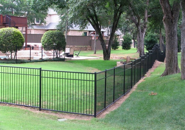 Wrought Iron Re-paint in Southlake on Timarron traditional-landscape