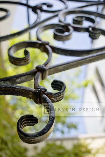 Wrought Iron Window Trellis traditional-landscape