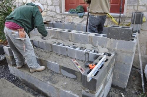 wynnewood pa concrete steps landscape
