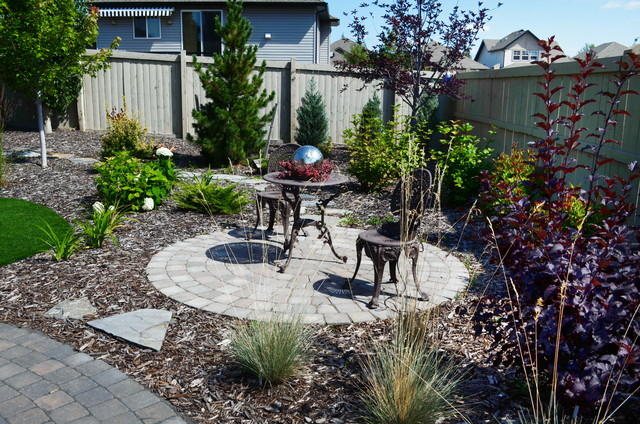 Xeriscape Low Maintenance Large Backyard American Traditional Garden Edmonton By Aruuki Artisans Group