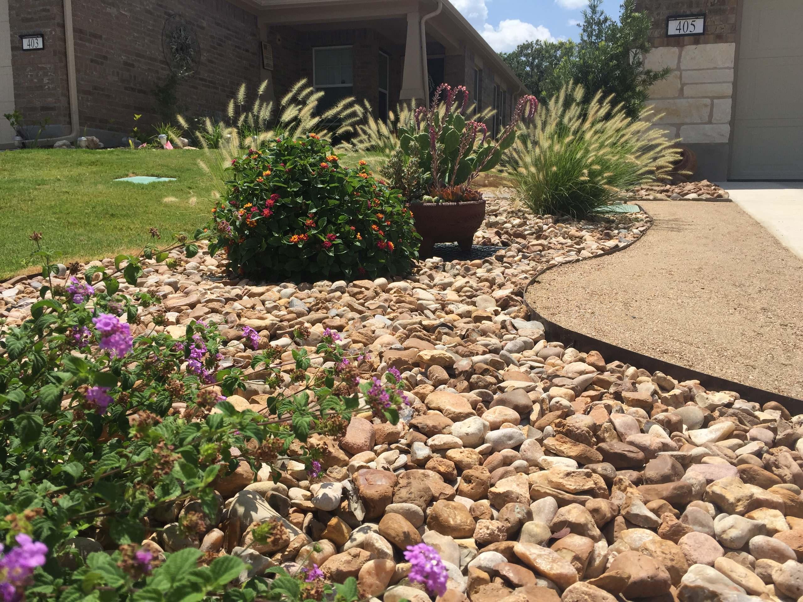 Xeriscape w/ decomposed granite driveway extension