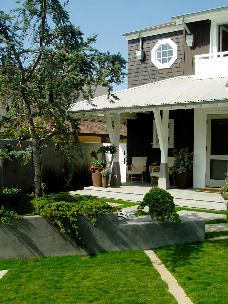 Zen, koi, floating steps, beach plantings, bungalow ...