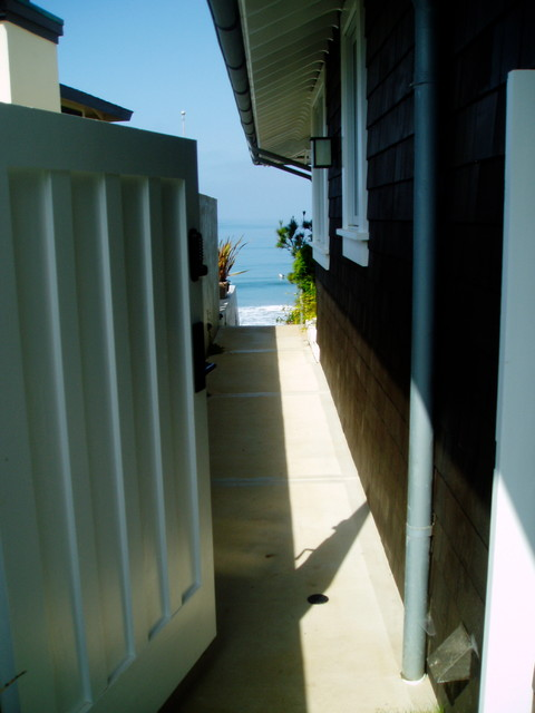 Zen, koi, floating steps, beach plantings, bungalow contemporary-landscape