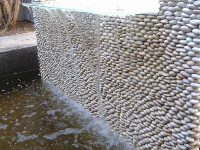 Zen Paradise Standing Pebble Tile Installations