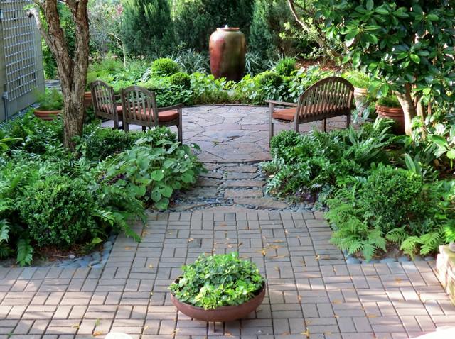 Zero lawn xeriscape craftsman landscape houston by for Idea garden inc