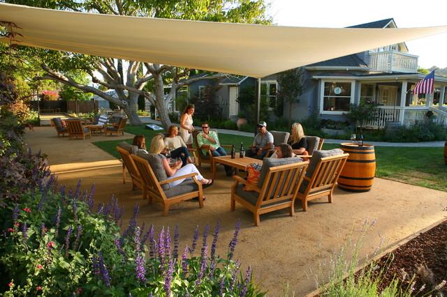 Zinke Wine Co Tasting Room Los Olivos Rustic Landscape Santa Barbara By