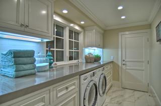 1512 Dolphin Terrace (night shots) traditional laundry room