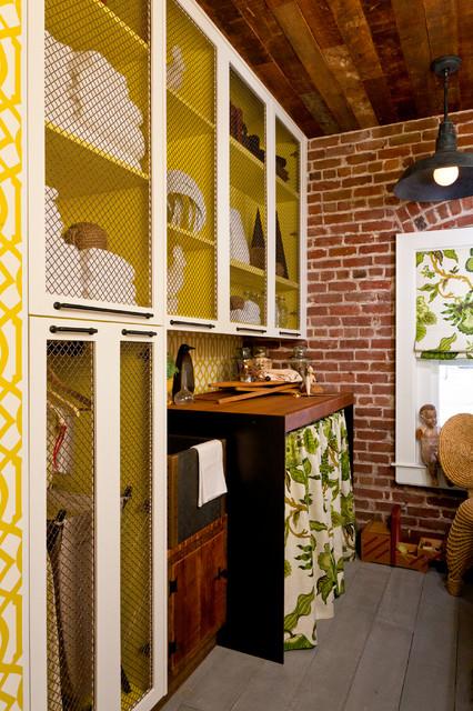 "2012 San Francisco Decorator Showcase:  ""The Press Room"" rustic-laundry-room"