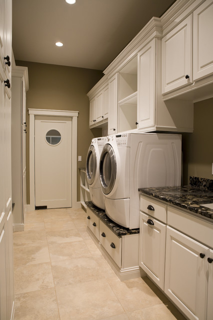 Example of a trendy laundry room design in New York