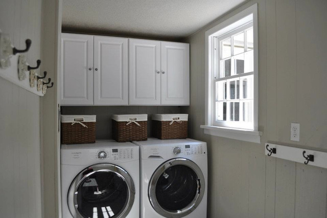 A 1940's Colonial complete renovation traditional-laundry-room